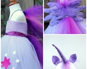My little pony Twilight Sparkle Costume - Twilight Sparkle 4 item- Twilight themed birthday party