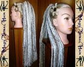 """DREAD FALLS """"Wolfheart"""" dreadlock dreads hair falls STEAMPUNK 60 cm/ 24'' long Fairy hair extension Fantasy reenactment Tribal Fusion dreads"""