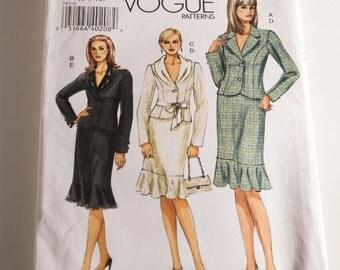 Vogue 8148 Misses' jacket and skirt suit pattern sizes 6 8 10