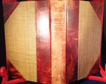 Book The Works of Henry Wadsworth Longfellow Vol 1 and 2 Aldus Edition De Luxe 1909 Poetry