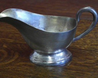 antique silver plate milk jug hotel ware