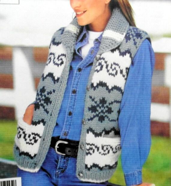 Cowichan Vest knitting pattern white buffalo pdf