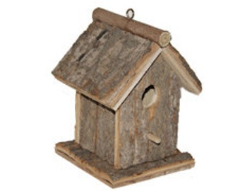 7 Inch Rustic Wood Birdhouse CLOSEOUT PRICE!