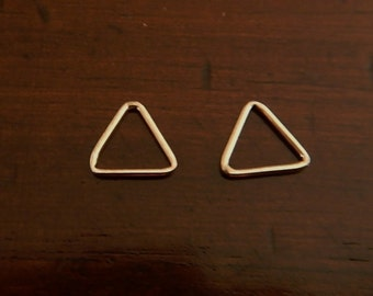 2 Sterling Silver Tiny Triangle Drops Earrings Jewelry 8 mm