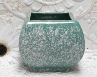 Green Splatter Vase Planter