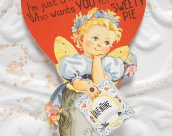 1930s Used Valentine Butterfly Princess Mechanical Large 8 Inch