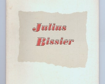 Julius Bissier 70th Year Retrospective Exhibition Catalog 1963 Institute of Contemporary Art Mid Century Modern Paintings Prints Drawings
