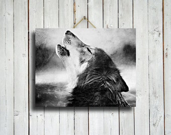 A Howling Wolf - howling wolf art - native american style art - wolf photo - wolf photography - wolf dog - wolf photograph - wolf decor
