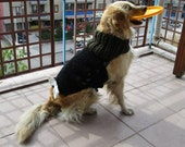 Golden Dog ,Comfy Cozy Big Dog Hand-Knitted Sweater,Dog Snood-warm  neck warmth,,all dog breeds,dog accessories.