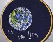 Full Moon embroidery (la luna llena)
