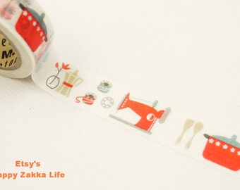 Sewing Machine and Bowl - Japanese Washi Masking Tape - 11 Yards