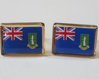 British Virgin Islands Flag Cufflinks