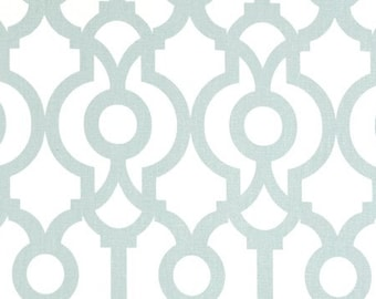 Snowy Blue Lyon Geometric Curtains. Window Drapes. Light Blue Modern Curtains. Drapery.