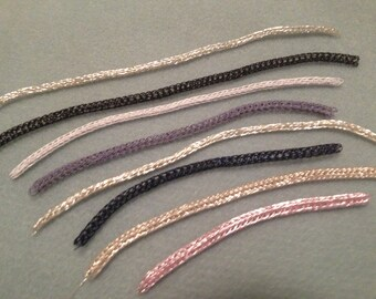 Viking knit chain ready for you to finish as you would like