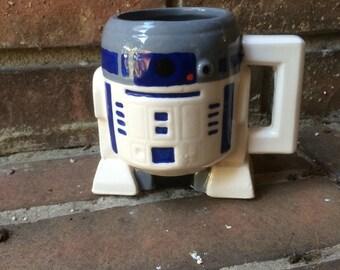 Star Wars R2D2 Hand Painted Mug!!