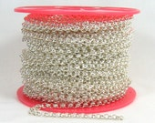 5ft 4.8mm Rolo Chain - Silver Plated - 4.8mm Links - CH80