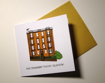 Glasgow Architecture notelet card - The Tenement House
