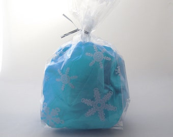 Set of 25 Snowflake Cello Bags