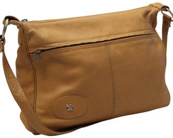 Vintage, Tan Leather Messenger, Cross Body Bag, Satchel, Saddle Bag, Handbag
