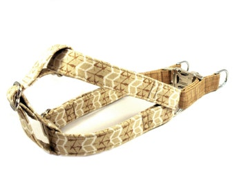 Dog Harness, TAN BEIGE, Handmade Dog Harness, Dog Step in Harness, Step in Dog Harness