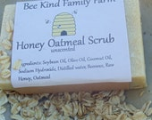 Honey Oatmeal Scrub cold Process Soap made with Honey and Beeswax