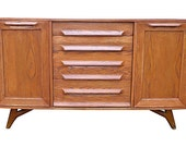 SCULPTED Mid Century Modern CREDENZA media stand