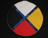Quilted St. Amiens Finger Labyrinth on Medicine Wheel