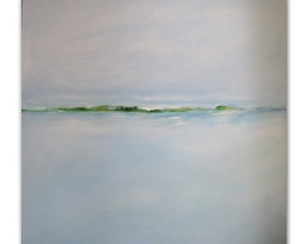 "Painting Acrylic Original, Coastal Vistas, Abstract Seascape 30""x30"""