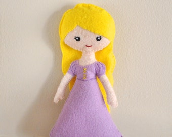 Disney Princess - Rapunzel- Tangled - Mini Doll - Wool Blend Felt
