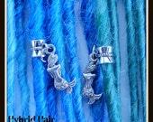 mermaid inspired dread beads dreadlocks accessories Tibetan silver
