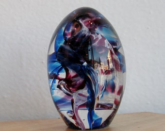 Glass Paperweight Egg by Jonathan Winfisky - Easter Egg