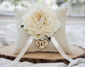 Ring bearer pillow & matching ribbon You personalize with choice of flower