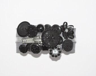Gray Black and Silver Zipper Bracelet