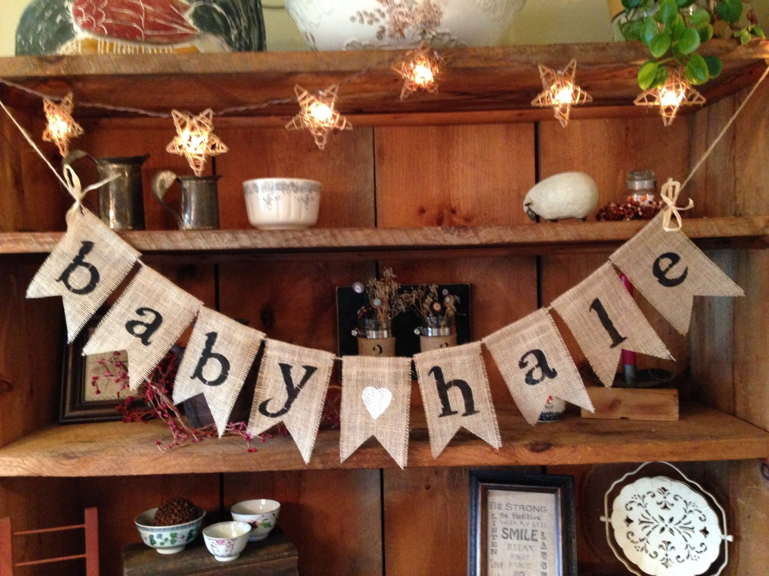 burlap baby bunting baby shower decoration baby girl