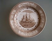 Wedgwood Plate 'GAME COCK' American Clipper Ships series 1948