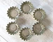Vintage Aluminium Cupcake Muffin Tart Tins Mini Cake Tins Molds Farmhouse Kitchen Set of Six