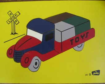 Pick up Truck Board JIGSAW Puzzle, by The Judy Co. Minn. Truck  Jigsaw puzzle. Nursery decor. Collectible puzzle