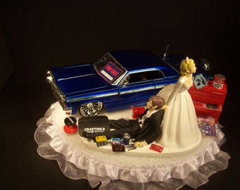 rally car wedding cake topper auto rally race nissan 370 z and groom wedding by 18964