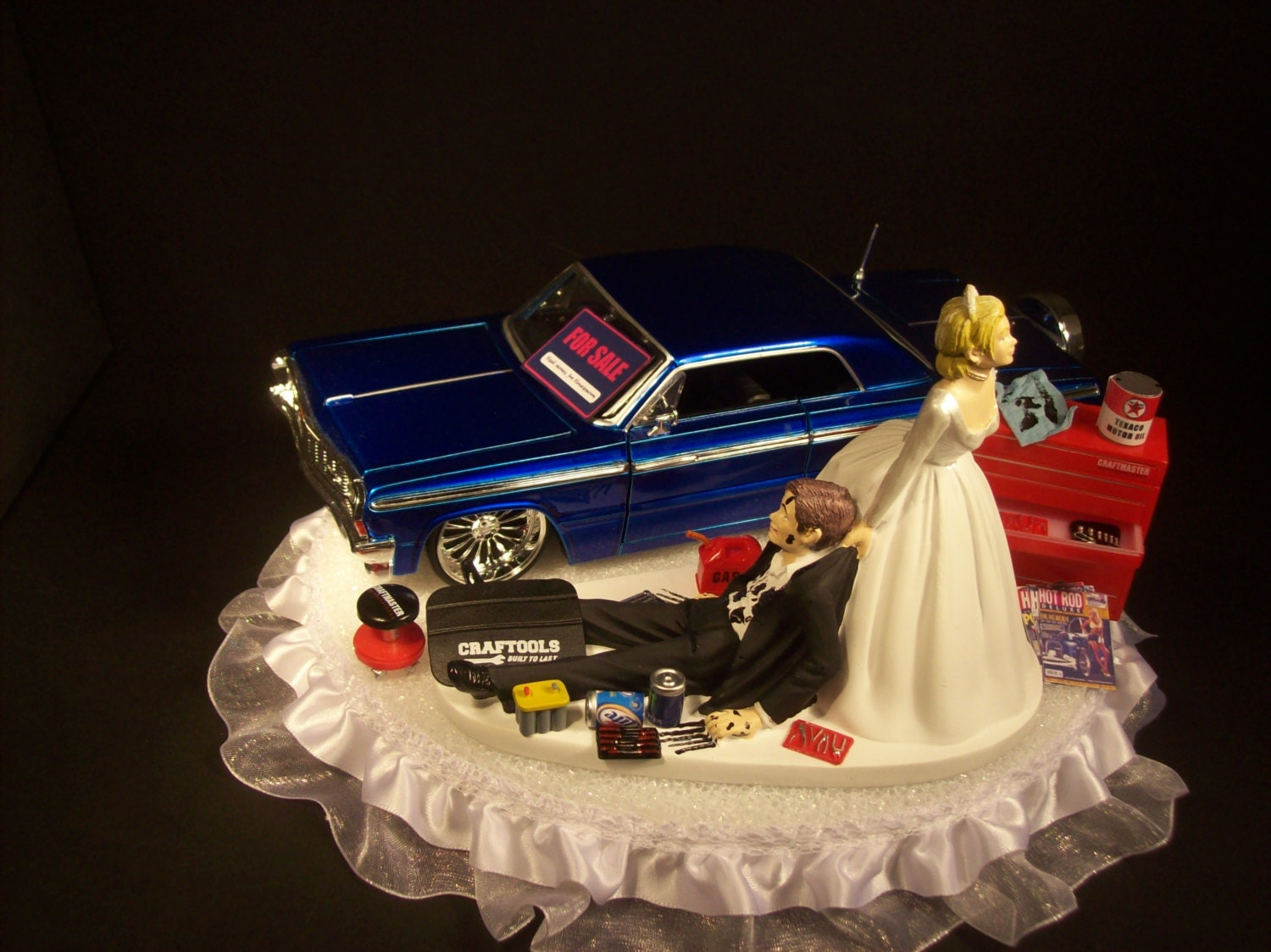 AUTO Mechanic Bride and Groom 1964 Chevrolet Impala by