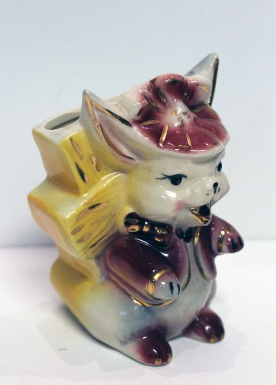 Vintage Ceramic Rabbit Planter