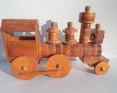 Handsome Vintage Handmade Wooden Locomotive