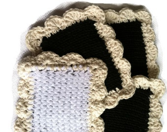 Knit Dishcloth/ Pot Scrubber / Knitted Dish Scrubbies /  Knit Dish Cloth / Sponge / Nylon Scrubbies / Scrubber