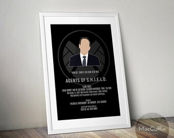 Agents of S.H.I.E.L.D. poster - Choose from 10 characters (Made to order)