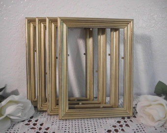 Rustic Gold Wedding Frame Shabby Chic Distressed 4 x 6 5 x 7 Picture Photo Table Number Decoration Country Cottage Home Decor Gift Her Him
