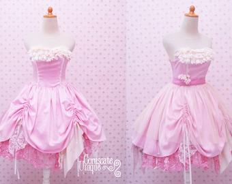 Rag Doll Dress Wedding Bridesmaid Gown / Sweetheart Neckline OOAK Eco Friendly