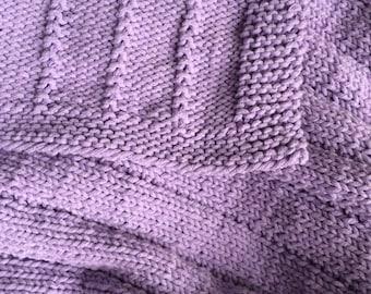 Easy Knit Baby Blanket PATTERN PDF File
