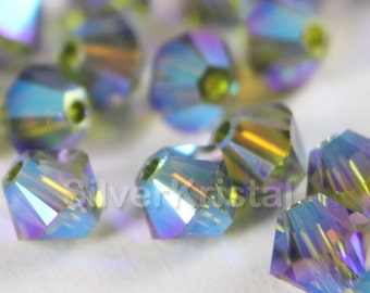 Promotion Item - 144pcs Swarovski Elements - Swarovski Crystal Beads 5328 4mm Xillion Beads - Olivine AB2X