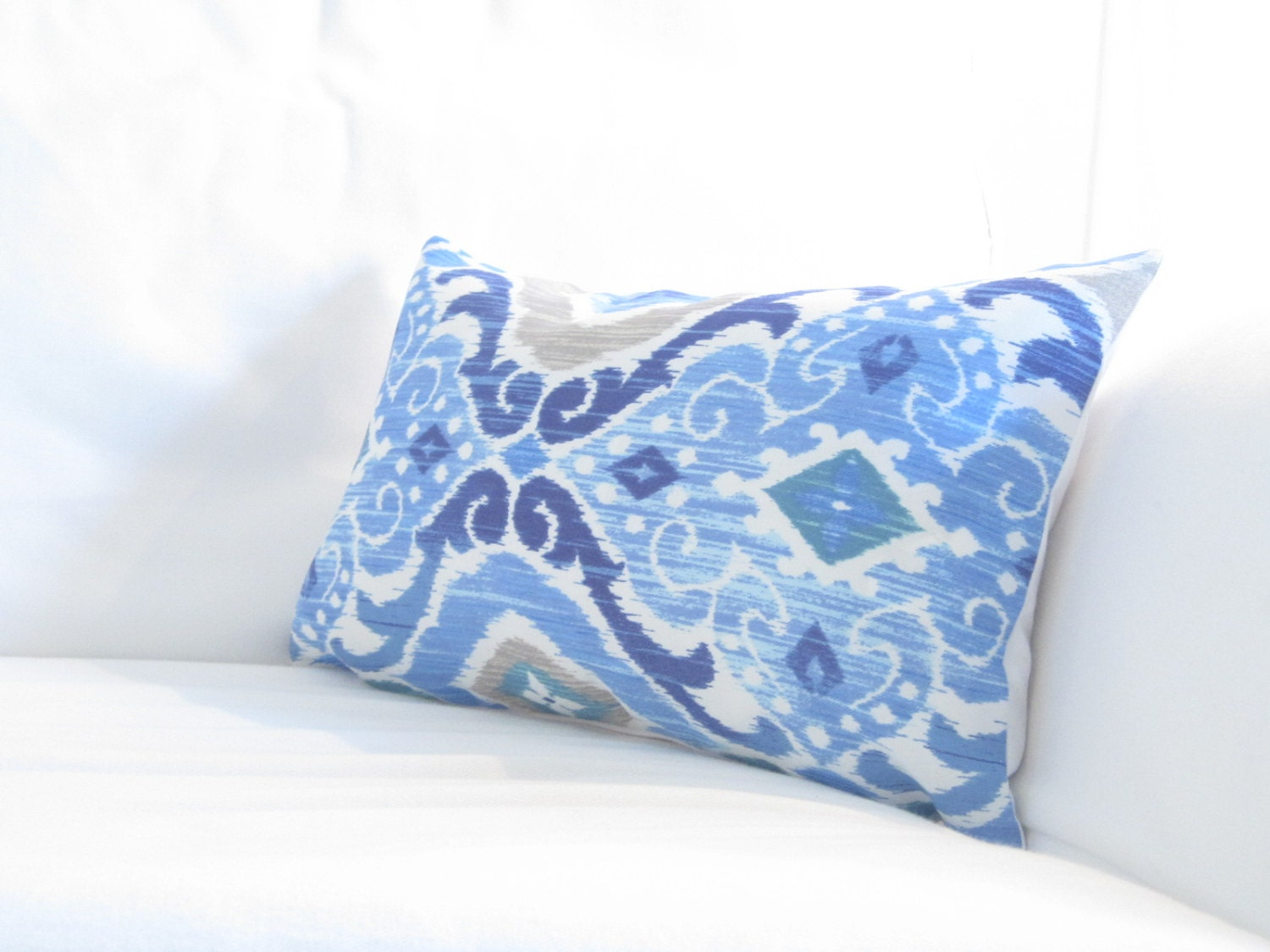 Blue Lumbars Chair Pillows Blue Damask Lumbar by  : ilfullxfull673639462doi7 from www.etsy.com size 1500 x 1125 jpeg 201kB