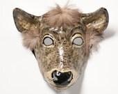 Paper mache doe mask