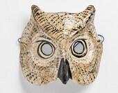 Papie mache owl mask